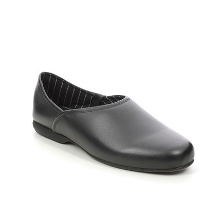 Clarks Slippers & Mules - Black leather - 447207G HARSTON ELITE