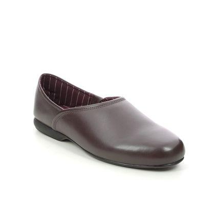 Clarks Slippers & Mules - Burgundy Leather - 447217G HARSTON ELITE