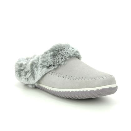 Clarks Slippers & Mules - Grey Suede - 559664D HOME2 SOFT