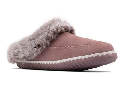 Clarks Slippers & Mules - Pink suede - 559654D HOME2 SOFT