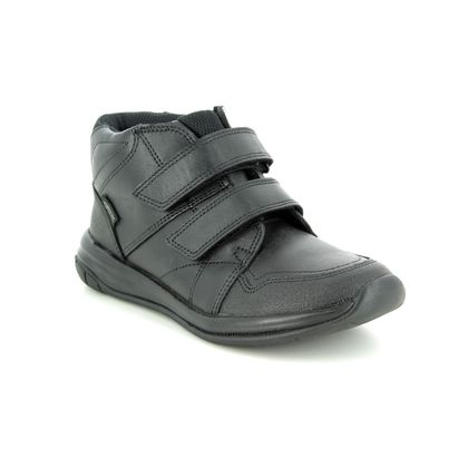 Clarks Boys Boots - Black leather - 3490/76F HULA SPIN GTX