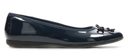 Clarks Girls Shoes - Navy patent - 3468/76F JESSY SHINE