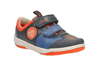 Clarks Boys Shoes - Navy - 1411/35E JETSKY BUZZ IN