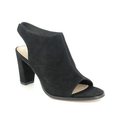 Clarks Heeled Sandals - Black Suede - 482944D KAYLIN 85 SLING