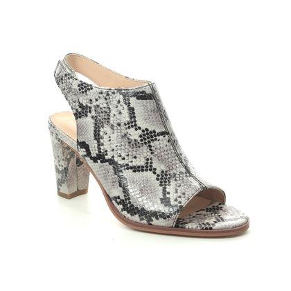 Clarks Heeled Sandals - Grey Suede - 482934D KAYLIN 85 SLING