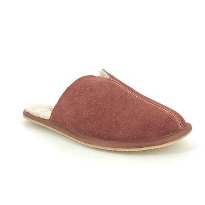 Clarks Slippers - Brown Suede - 508907G KITE SEAM