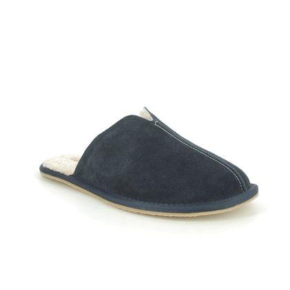 Clarks Slippers & Mules - Navy Suede - 555737G KITE SEAM