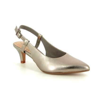 Clarks Heeled Sandals - Pewter - 400274D LINVALE LOOP