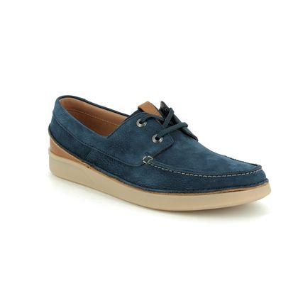 Clarks Casual Shoes - Navy Nubuck - 395537G OAKLAND SUN