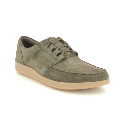 Clarks Casual Shoes - Olive Green - 540657G OAKLAND WALK