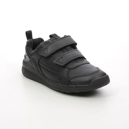 Clarks Boys Shoes - Black leather - 534786F ORBIT SPRINT K