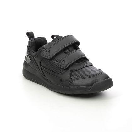 Clarks Boys Shoes - Black leather - 534787G ORBIT SPRINT K