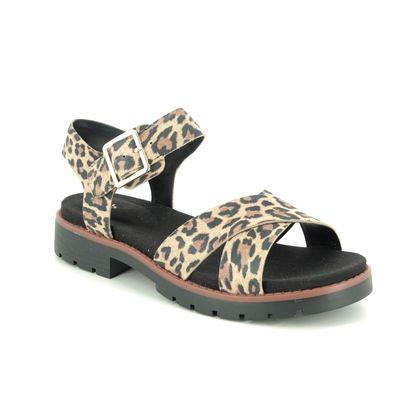Clarks Flat Sandals - Leopard print - 496144D ORINOCO STRAP