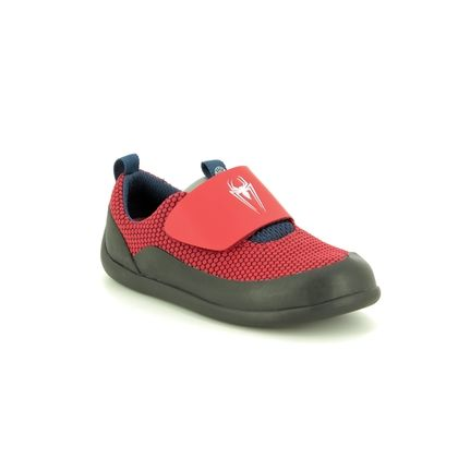 Clarks Boys Trainers - Red - 424456F SPIDERMAN PLAY POWER T