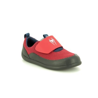 Clarks Boys Trainers - Red - 424457G SPIDERMAN PLAY POWER T