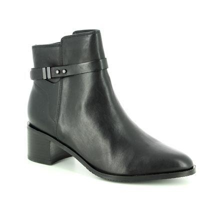 Clarks Fashion Ankle Boots - Black leather - 3600/64D POISE FREYA