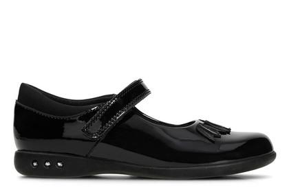 Clarks Girls Shoes - Black patent - 3349/66F PRIME STEP