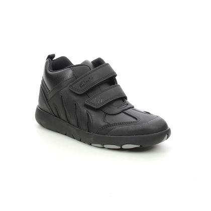 Clarks Boys Boots - Black leather - 628366F REX HOP CRASH K