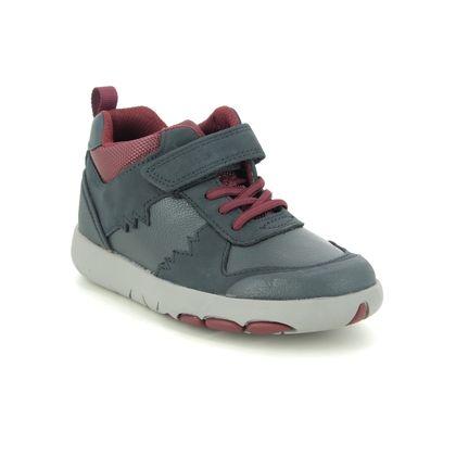 Clarks Boys Boots - Navy Leather - 535626F REX PARK K