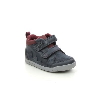 Clarks Infant Boys Boots - Navy Leather - 521886F REX PARK T