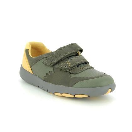 Clarks Boys Shoes - Khaki - 491416F REX QUEST K