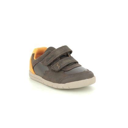 Clarks Boys Shoes - Brown leather - 567756F REX QUEST T