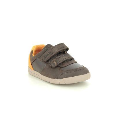 Clarks Boys Shoes - Brown leather - 567757G REX QUEST T