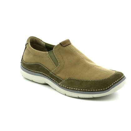 Clarks Trainers - Olive Green - 1417/37G RIPTON FREE