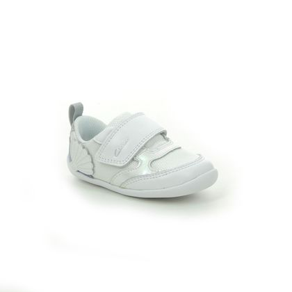 Clarks 1st Shoes & Prewalkers - WHITE LEATHER - 565817G ROAMER AEON T