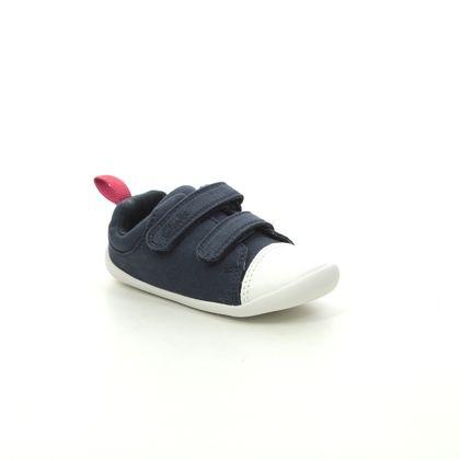 Clarks 1st Shoes & Prewalkers - Navy - 422858H ROAMER CRAFT TC