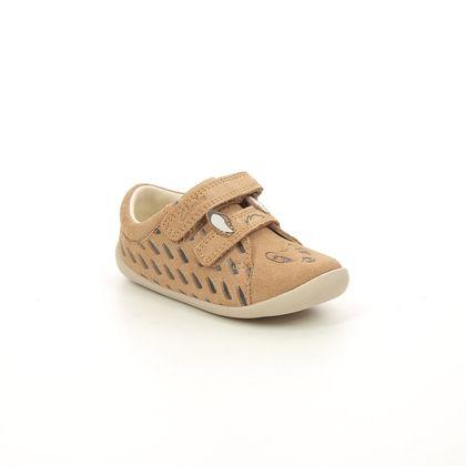 Clarks 1st Shoes & Prewalkers - Tan Suede - 621376F ROAMER DEER T