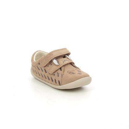 Clarks 1st Shoes & Prewalkers - Tan Suede - 621377G ROAMER DEER T