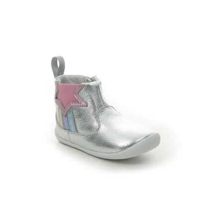 Clarks 1st Shoes & Prewalkers - Silver Leather - 521856F ROAMER FLASH T
