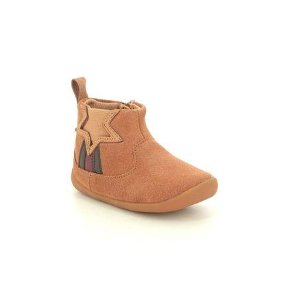 Clarks 1st Shoes & Prewalkers - Tan Leather - 552756F ROAMER FLASH T
