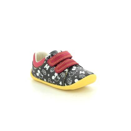 Clarks 1st Shoes & Prewalkers - Black - 515336F ROAMER MOUSE T