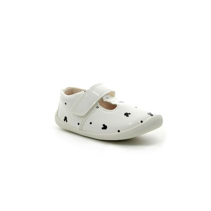 Clarks 1st Shoes & Prewalkers - White patent - 422786F ROAMER POLKA T DISNEY