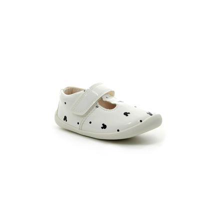 Clarks 1st Shoes & Prewalkers - White patent - 422787G ROAMER POLKA T DISNEY