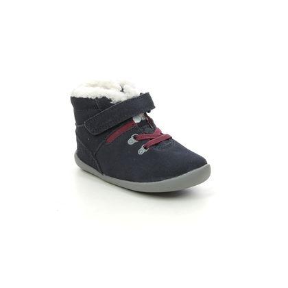 Clarks 1st Shoes & Prewalkers - Navy Suede - 614367G ROAMER SNUG T