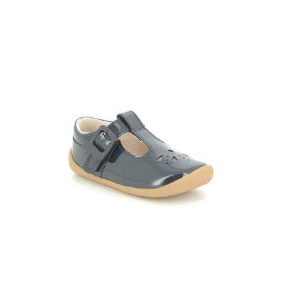 Clarks 1st Shoes & Prewalkers - Navy patent - 434678H ROAMER STAR T