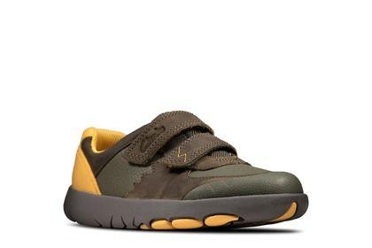 Clarks Boys Shoes - Khaki - 491417G REX QUEST K