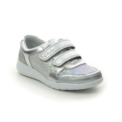 Clarks Girls Trainers - Silver - 491377G SCAPE SPIRIT K