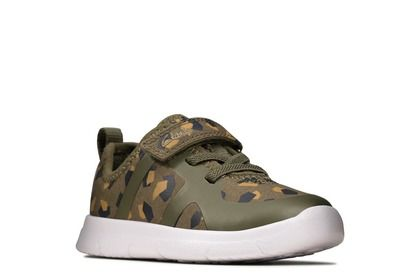 Clarks Boys Trainers - Camouflage - 498647G ATH FLUX T 01