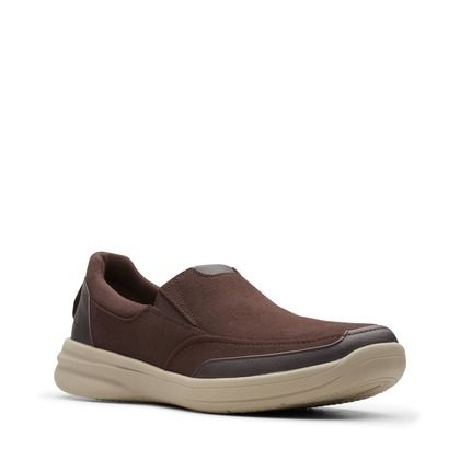Clarks Slip-on Shoes - Brown leather - 489737G STEPSTROLL EDGE