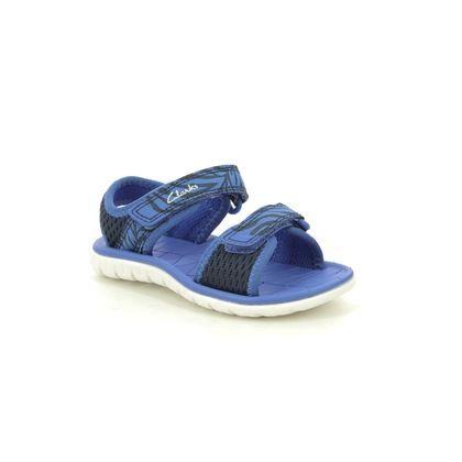 Clarks Girls Sandals - Navy - 493667G SURFING TIDE T