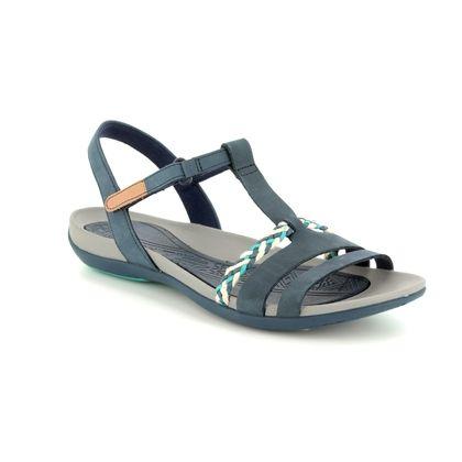 Clarks Comfortable Sandals - Navy - 2389/44D TEALITE GRACE