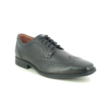 Clarks Brogues - Black leather - 462198H TILDEN WING