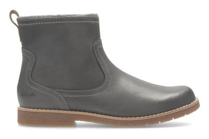 Clarks Girls Boots - Grey - 2869/36F TILDY MOE JNR