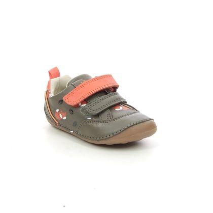 Clarks 1st Shoes & Prewalkers - Khaki Leather - 638736F TINY CUB T FOX
