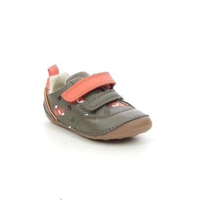 Clarks 1st Shoes & Prewalkers - Khaki Leather - 638737G TINY CUB T FOX