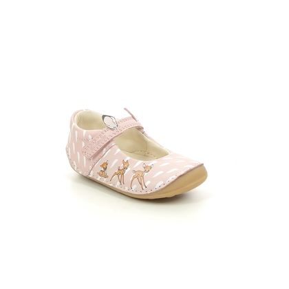 Clarks 1st Shoes & Prewalkers - Pink Leather - 614217G TINY DEER T
